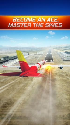iPhone、iPadアプリ「フライトアラート : フライトシミュレータ by 自由のための楽しいゲーム」のスクリーンショット 1枚目