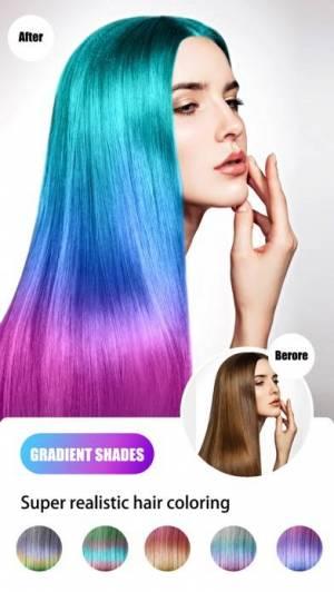 iPhone、iPadアプリ「Hair Color Dye - Hairstyle DIY」のスクリーンショット 2枚目