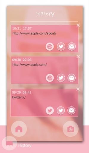 iPhone、iPadアプリ「sweet scan - かわいいQRコードリーダー -」のスクリーンショット 3枚目