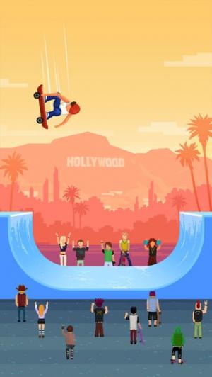 iPhone、iPadアプリ「Halfpipe Hero - Retro Arcade Skateboarding」のスクリーンショット 1枚目