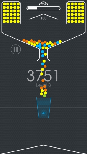 iPhone、iPadアプリ「100 Balls - Tap to Drop the Color Ball Game」のスクリーンショット 1枚目