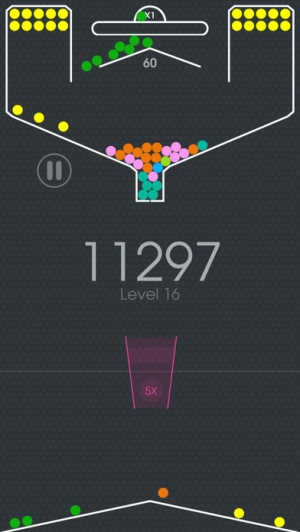 iPhone、iPadアプリ「100 Balls - Tap to Drop the Color Ball Game」のスクリーンショット 5枚目