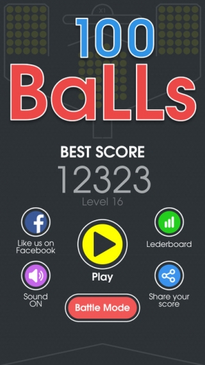 iPhone、iPadアプリ「100 Balls - Tap to Drop the Color Ball Game」のスクリーンショット 3枚目