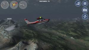 iPhone、iPadアプリ「スイス・アルプスで飛行機操縦フライトシミュレーター」のスクリーンショット 2枚目