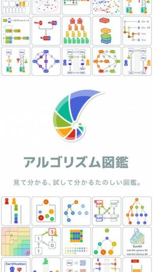 iPhone、iPadアプリ「アルゴリズム図鑑」のスクリーンショット 1枚目
