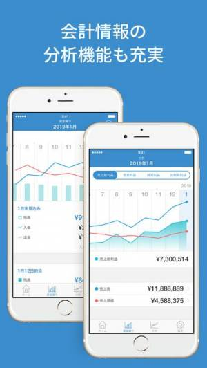 iPhone、iPadアプリ「会計ソフト マネーフォワードクラウド会計・確定申告分析アプリ」のスクリーンショット 2枚目