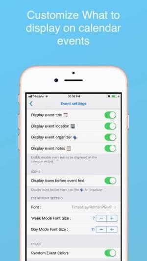 iPhone、iPadアプリ「Week Calendar Widget Pro」のスクリーンショット 5枚目