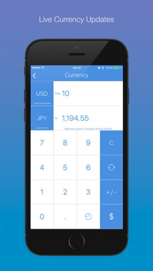 iPhone、iPadアプリ「Convertizo 3 - Convert Units and Currency in Style」のスクリーンショット 2枚目