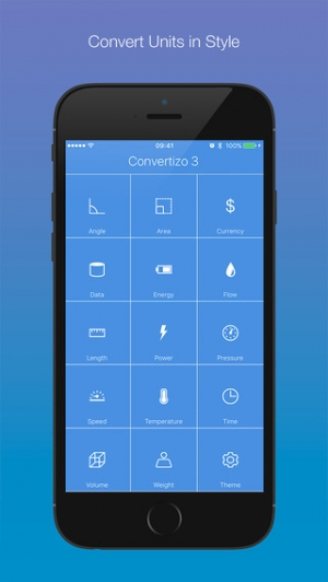 iPhone、iPadアプリ「Convertizo 3 - Convert Units and Currency in Style」のスクリーンショット 1枚目