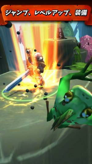 iPhone、iPadアプリ「タップの戦士: ジャンプ攻撃(Tap Tap Warriors: Nonstop Jump RPG)」のスクリーンショット 2枚目