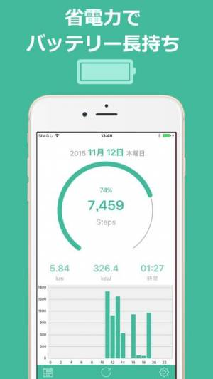 iPhone、iPadアプリ「歩数計Maipo - 毎日歩こうダイエット!」のスクリーンショット 4枚目