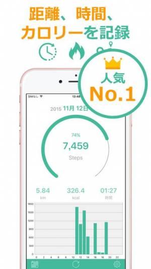 iPhone、iPadアプリ「歩数計Maipo - 毎日歩こうダイエット!」のスクリーンショット 1枚目
