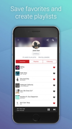 iPhone、iPadアプリ「Hillydilly - Free Music Discovery」のスクリーンショット 4枚目