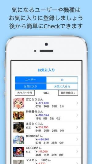 iPhone、iPadアプリ「Myパチ収支表 みんなの収支を見れる収支簿」のスクリーンショット 4枚目