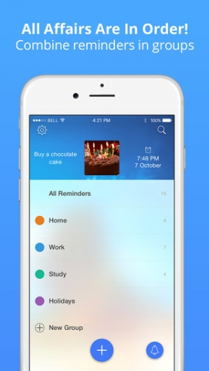 iPhone、iPadアプリ「Reminders: photo to-do list & task notification」のスクリーンショット 3枚目