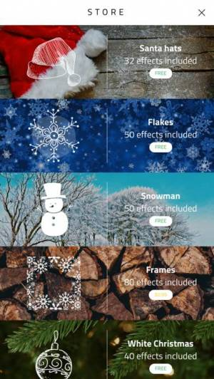 iPhone、iPadアプリ「Xmas Cam - Christmas Stickers and Photo Frames」のスクリーンショット 5枚目
