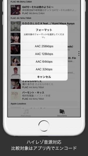 iPhone、iPadアプリ「hi-blind : ハイレゾ音源対応のブラインドテストアプリ」のスクリーンショット 4枚目