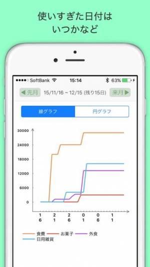 iPhone、iPadアプリ「袋分家計簿 : 簡単人気の家計簿アプリ」のスクリーンショット 3枚目