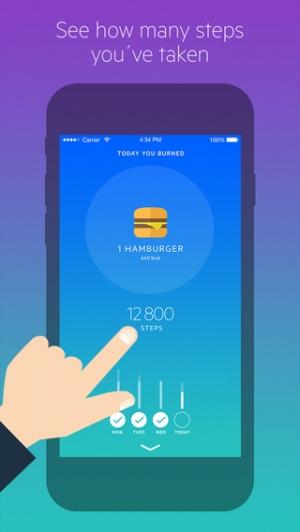 iPhone、iPadアプリ「Movesum - Step counter by Lifesum」のスクリーンショット 1枚目