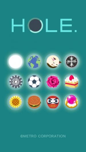iPhone、iPadアプリ「HOLE.」のスクリーンショット 1枚目