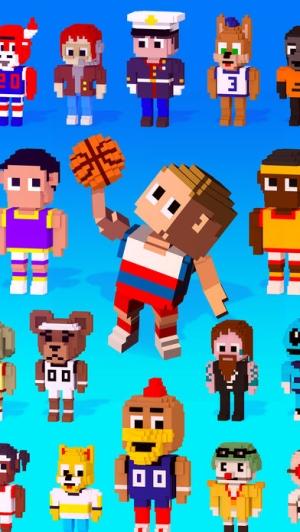 iPhone、iPadアプリ「Blocky Basketball FreeStyle」のスクリーンショット 5枚目