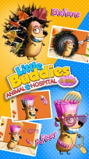 iPhone、iPadアプリ「Little Buddies Animal Hospital 2 - Pet Dentist, Doctor Care & Spa Makeover」のスクリーンショット 2枚目