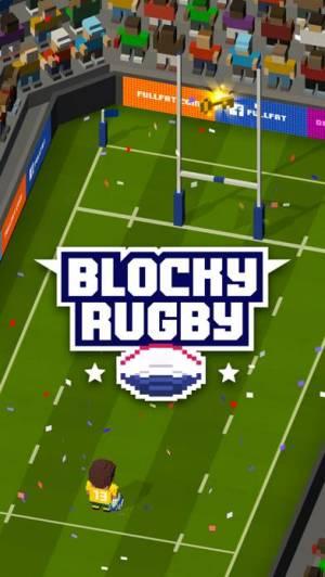 iPhone、iPadアプリ「Blocky Rugby」のスクリーンショット 1枚目