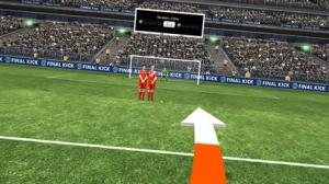 iPhone、iPadアプリ「Final Kick VR - Virtual Reality free soccer game for Google Cardboard」のスクリーンショット 2枚目