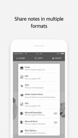 iPhone、iPadアプリ「Moleskine Notes」のスクリーンショット 5枚目