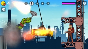 iPhone、iPadアプリ「LimpHeroes - 爆笑物理アクション」のスクリーンショット 2枚目