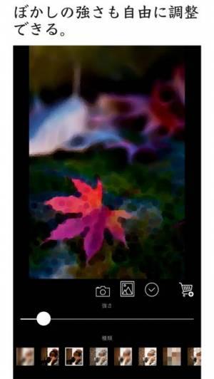 iPhone、iPadアプリ「ぼかしアプリ - 簡単ぼかし加工」のスクリーンショット 3枚目