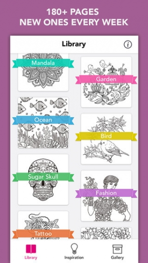 iPhone、iPadアプリ「Colory: Adult Coloring Book for Free」のスクリーンショット 2枚目