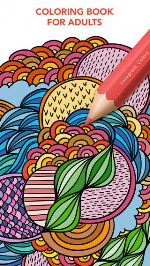 iPhone、iPadアプリ「Colory: Adult Coloring Book for Free」のスクリーンショット 1枚目