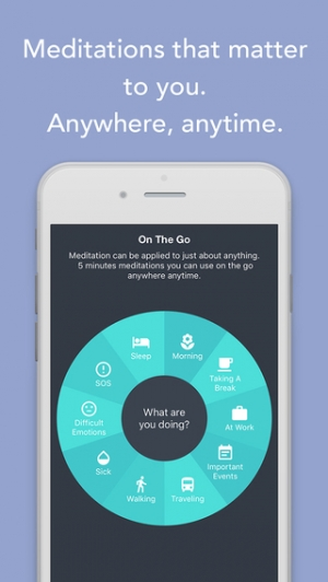 iPhone、iPadアプリ「Simple Habit - Mindfulness Meditations for Your Busy Life and Stress Relief」のスクリーンショット 3枚目