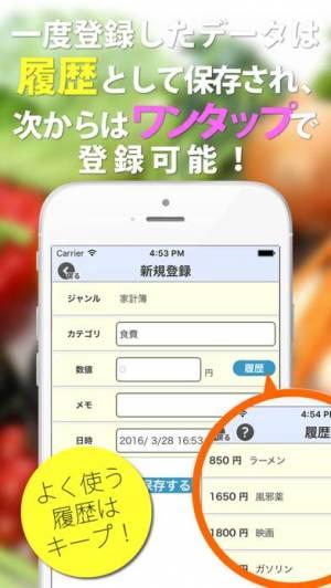 iPhone、iPadアプリ「記録手帳 ~ カレンダー型家計簿アプリ ~」のスクリーンショット 2枚目