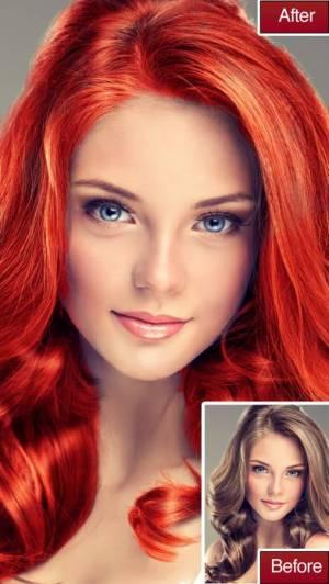 iPhone、iPadアプリ「Hair Color Lab 美しさ変身のための髪の色や」のスクリーンショット 3枚目