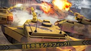iPhone、iPadアプリ「ベスト戦車ラッシュレーシングゲーム (World War of Tanks)」のスクリーンショット 2枚目