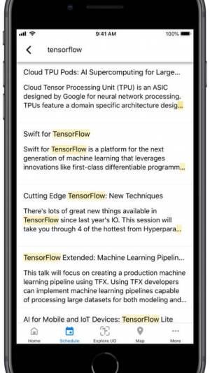 iPhone、iPadアプリ「Google I/O」のスクリーンショット 1枚目