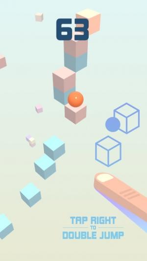 iPhone、iPadアプリ「Cube Skip」のスクリーンショット 2枚目