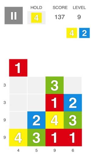 iPhone、iPadアプリ「XTRIS - テントリス  [ 新感覚な計算パズルゲーム ]」のスクリーンショット 1枚目