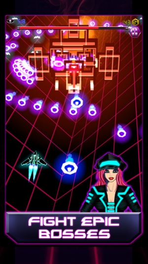 iPhone、iPadアプリ「Galaxy BulletHell: Space intruders」のスクリーンショット 1枚目