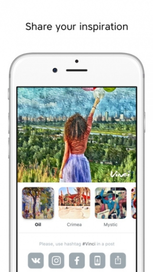 iPhone、iPadアプリ「Vinci – Edit Photos with Creative Picture Filters and Art Effects」のスクリーンショット 4枚目