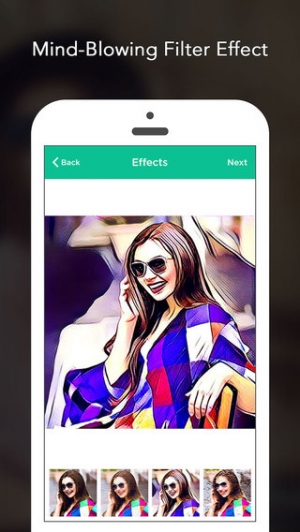iPhone、iPadアプリ「Art Photo Editor - cool art effects and filters for prisma of snap for no crop for instagram」のスクリーンショット 1枚目