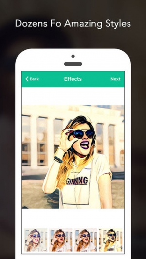 iPhone、iPadアプリ「Art Photo Editor - cool art effects and filters for prisma of snap for no crop for instagram」のスクリーンショット 2枚目