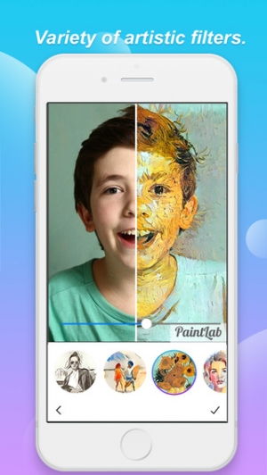 iPhone、iPadアプリ「PaintLab - Beauty Camera and Photo Editor with Art Effects for Instagram free」のスクリーンショット 2枚目