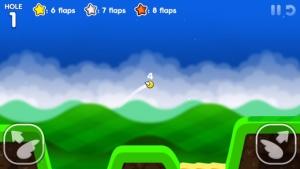 iPhone、iPadアプリ「Flappy Golf 2」のスクリーンショット 1枚目