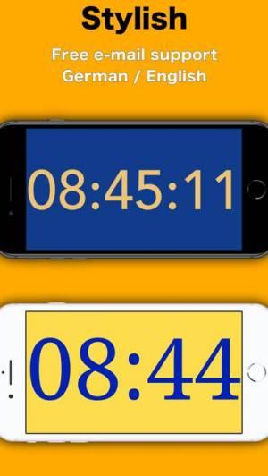 iPhone、iPadアプリ「Simply Clock - Digital」のスクリーンショット 5枚目