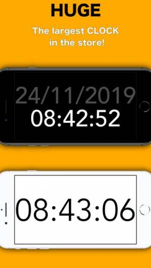 iPhone、iPadアプリ「Simply Clock - Digital」のスクリーンショット 1枚目