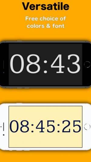 iPhone、iPadアプリ「Simply Clock - Digital」のスクリーンショット 3枚目