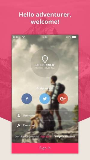 iPhone、iPadアプリ「LifePinner - Pin Your Travel Map」のスクリーンショット 1枚目
